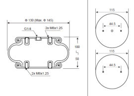 1B145-50 A87橡胶空气弹簧减震气囊