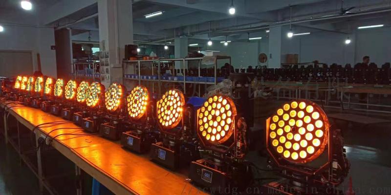 舞檯燈光廣州鑫橙36顆10瓦調焦染色搖頭燈