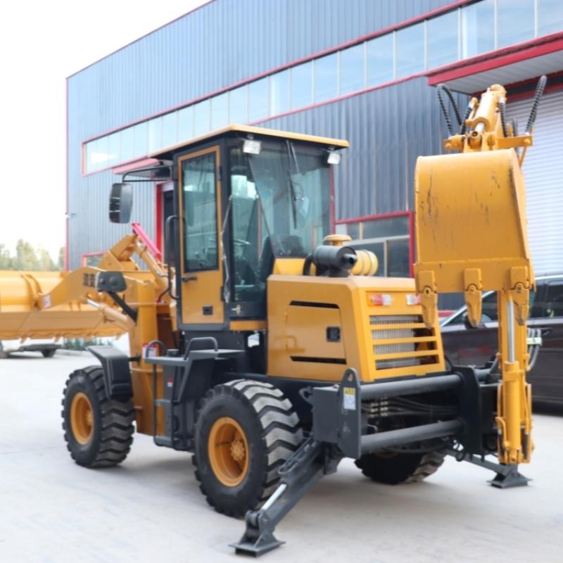 **轮式多功能铲挖一体机 两头忙装载机厂家