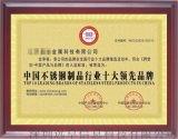 中国不锈钢制品行业    品牌