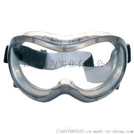 梅思安MSA防雾防刮擦护目镜 可调节透明防护眼罩