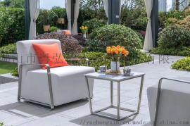 專業定做各種風格不鏽鋼造型沙發戶外閒沙發組合