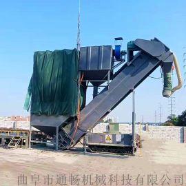 环保集装箱卸灰机 箱装粉料中转设备 粉煤灰卸车机