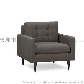 奶茶店单人沙发椅,带扶手的卡座沙发,深圳餐厅沙发厂
