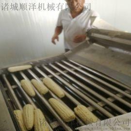热销水果玉米去须漂烫一体机 糯包米蒸煮设备