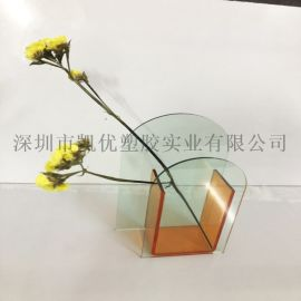 亚克力花瓶摆件北欧简易设计鲜花干花花瓶