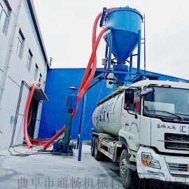 新疆地库块状粉煤灰搅拌式抽料机环保水泥干粉吸料机