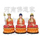 鎏金日光菩薩 月光菩薩神像 三世佛神像