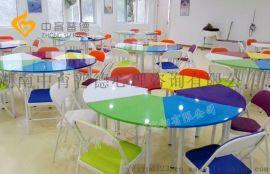 彩色团体活动桌椅厂家