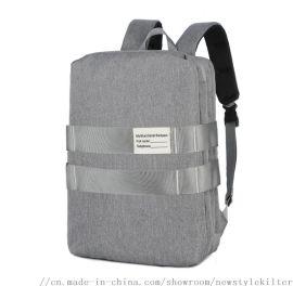 男士双肩包防水耐磨背包多功能差旅包商务电脑包