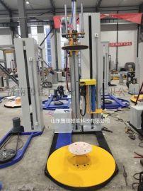 无纺布缠绕机-熔喷布包膜机-自动缠膜包装机
