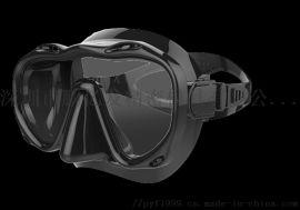鲸鱼潜水镜大框护目面罩成人浮潜装备用品