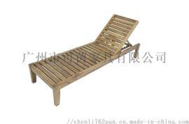 户外实木沙滩椅,可伸缩的沙滩椅