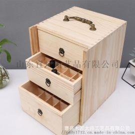 厂家定做精油盒木质指甲油收纳盒精油盒子