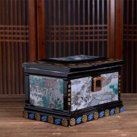 玉石骨灰盒真龙凤男女通用