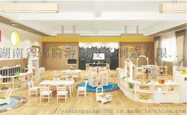 湖南幼儿园家私款式新潮儿童桌椅柜子玩具阅览室配套