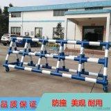 東莞學校門口帶刺移動鐵馬護欄 重型防撞拒馬護欄