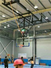 客户定制的电动升降悬挂篮球架安装完成