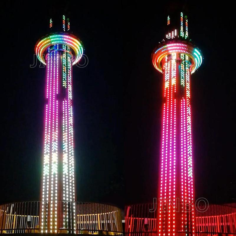 高空旋轉類遊樂設備20米35米70米跳樓機供應商