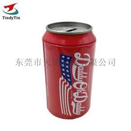 仿真可乐罐 创意存钱罐定制 毛巾T恤收纳圆罐