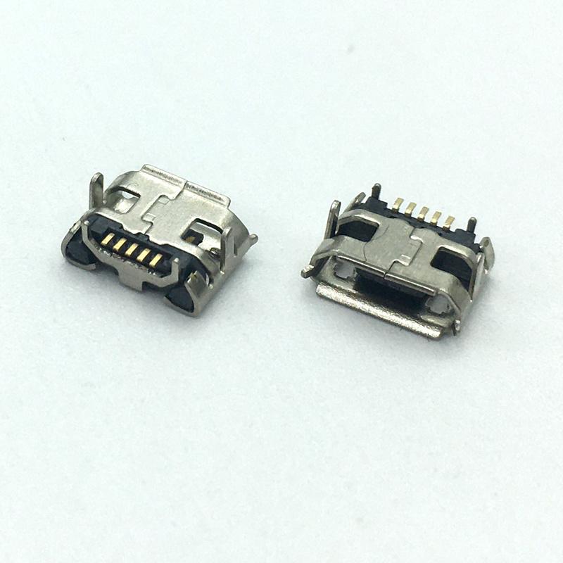 MICRO USB 5P 4.85牛角卷边