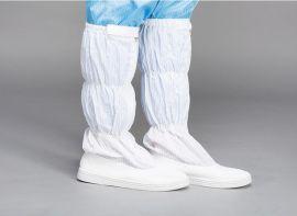 防静电高筒靴 PVC高筒鞋 男女条纹车间工作鞋
