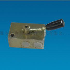 液控单向阀(板式)带手动锁闭-右