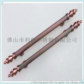 厂家订制 不锈钢304方管玫瑰金亮光玻璃门大拉手 把手