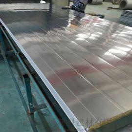岩棉金属夹芯板50岩棉彩钢夹芯板不锈钢岩棉板