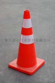 厂家直销**交通设施PVC路锥高70cm塑料雪糕筒