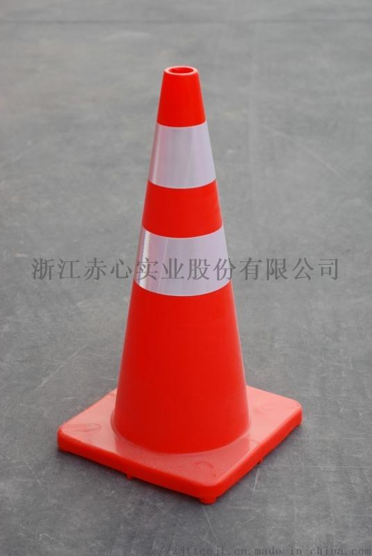 厂家直销优质交通设施PVC路锥高70cm塑料雪糕筒
