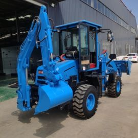 沃特小型装载机 多功能铲车两头忙 全新装挖装载机