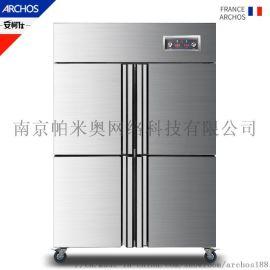 商用厨房四门冰箱 铜管制冷节能四门冰箱