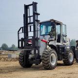 4吨越野叉车两级门架升高3米 泥泞路越野叉车