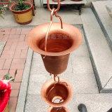 厂家供应寺庙用花杯雨链 纯铜排水链