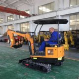 抓木机 小勾机挖土工作视频 都用机械60挖掘机加装