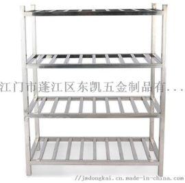 不锈钢置物架四层厨房收纳架