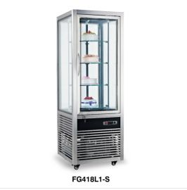 不锈钢四面玻璃冷藏展示柜