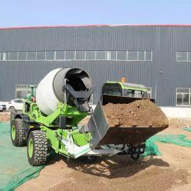 三方水泥搅拌罐车 混凝土自上料移动式混凝土搅拌车
