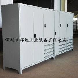 重型双开门工具柜 带锁安全工具柜 车间抽屉柜子