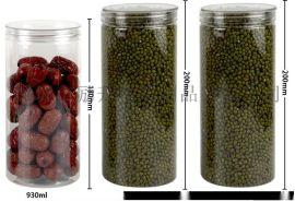 透明花茶包裝密封罐 食品罐 茶葉罐 透明塑料罐 pet罐子