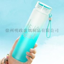 韩版学生清新杯七彩玻璃杯潮流茶杯随手杯情侣水杯