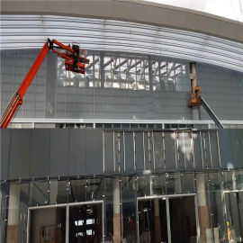 CBD建筑造型铝单板 商业楼门头包边铝板厂家