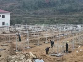 贵州铜仁18000平米薄膜连栋温室大棚项目建成