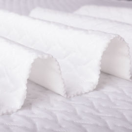 银线提花空气层面料竹纤维面料涤纶绗缝面料