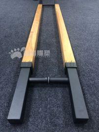 不锈钢雕刻实木大门拉手生产厂家