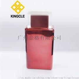 电镀100ml方形玻璃香水瓶