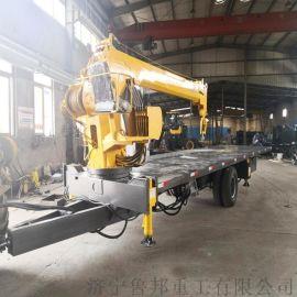 小型拖拉机平板吊 10吨拖拉机随车吊