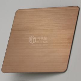 定制不锈钢拉丝古铜电梯装饰板 酒店装饰古铜拉丝板