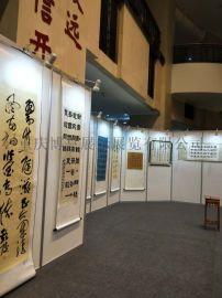 重庆八棱柱展板租赁,折叠屏风背景墙,挂画展板